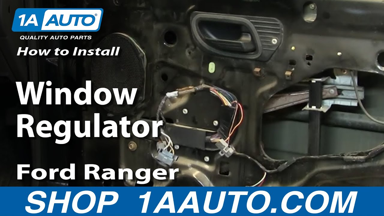 how to install replace window regulator ford ranger 93