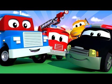 Miasto Samochodów Z Tom Holownik, Carl Super Cieżarówka, Patrol Policyjny - Bajki Dla Dzieci - LIVE