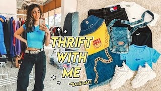 thrift with me on SALE DAY ☆ kind of a mess ¯\_(ツ)_/¯