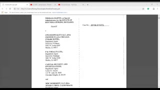 The Lions Den- (Kenneka Jenkins Courts Docs) By Beam Legal Team