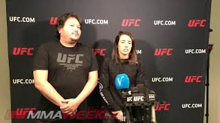 UFC on ESPN 7: Marina Rodriguez media day scrum  (FULL)