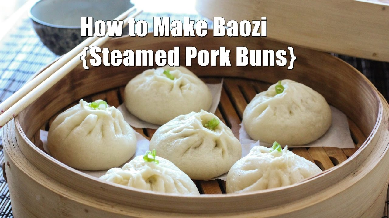 How to Make Steamed Chinese Meat Buns (Baozi) 包子 - YouTube