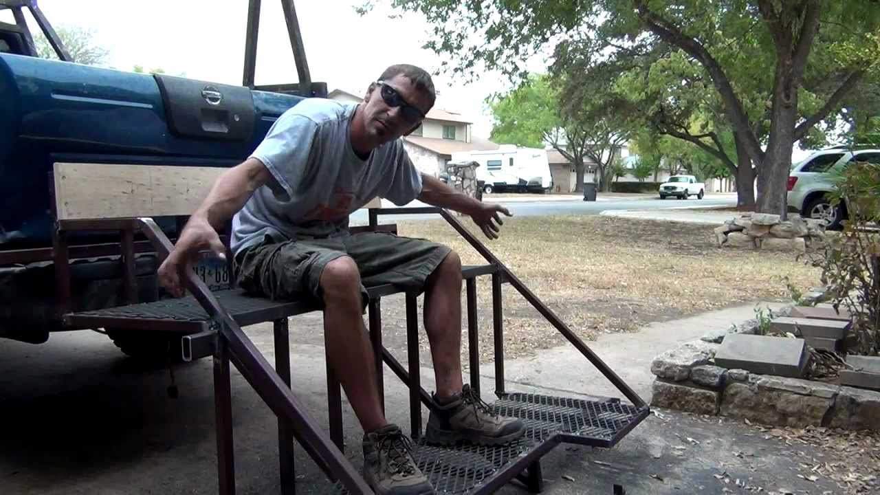 Welding A Double Bow Hunting Ladder Stand From Steel