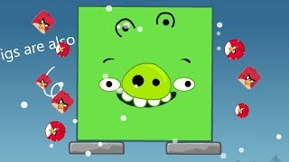 Angry Birds Kick Out Green Pigs - ONE SQUARE PIG TRANSFORM TO GIANT TO KICK ALL BIRDS!