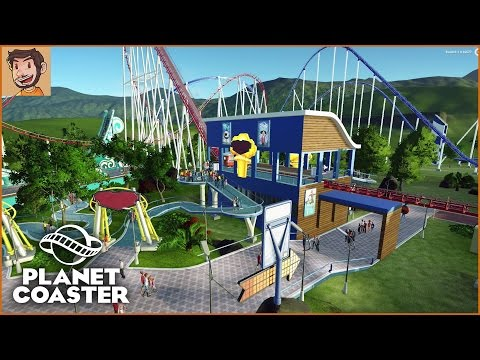 Planet Coaster - Alpha 1 Gameplay, Coaster Cam, Modular Building