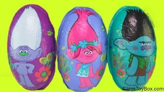Trolls Poppy Branch Chocolate Surprise Eggs Opening Guy Diamond Creek Toy Surprises Kids Fun