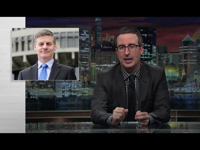 John Oliver - Bill English and update on Eminems lawsuit against New Zealand National party