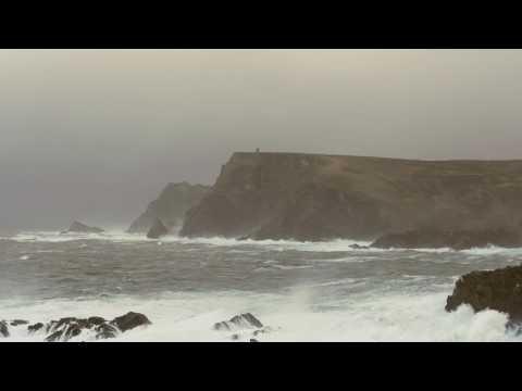 POWERFUL Thunderstorm & Ocean Sounds for Sleep or Study   Heavy Rain & Stormy Sea   4K HD Video