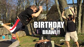 EPIC TABLE MATCH at DAUGHTERS BIRTHDAY! Backyard Wrestling!