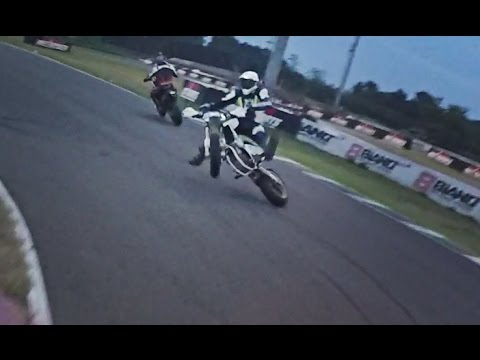 Painful crash on supermoto track - FAIL