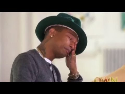 "Pharrell Cries Watching People Dance to ""Happy"" Video on Oprah!"
