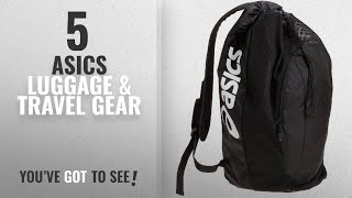 Top 10 Asics Luggage & Travel Gear [2018]: ASICS Gear Bag, Black, One Size