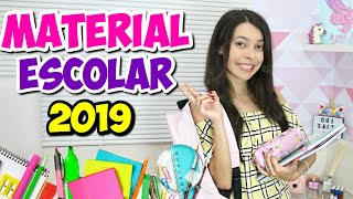 MEU MATERIAL ESCOLAR 2019 - Thalita Matsura