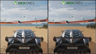 Forza Horizon 3 - Xbox One S vs Xbox One X - 1080p Graphics Comparison