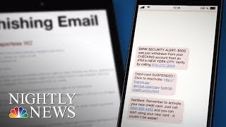 'Smishing' Cyber Attacks Target Customers Via Text Message | NBC Nightly News