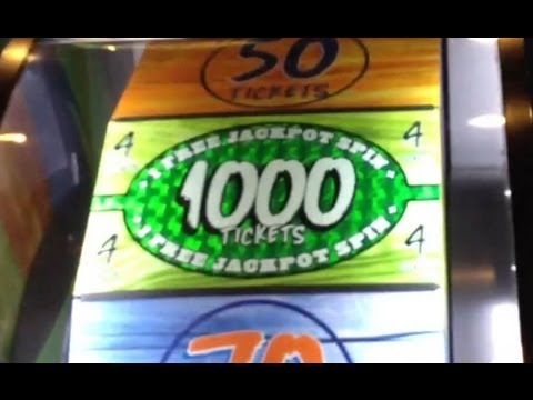 Crazy Dave and Busters Big Bass Wheel JACKPOT WIN as it Happens! 1000 Tickets!