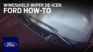 How to Use the Windshield Wiper De-Icer   Ford How-To   Ford