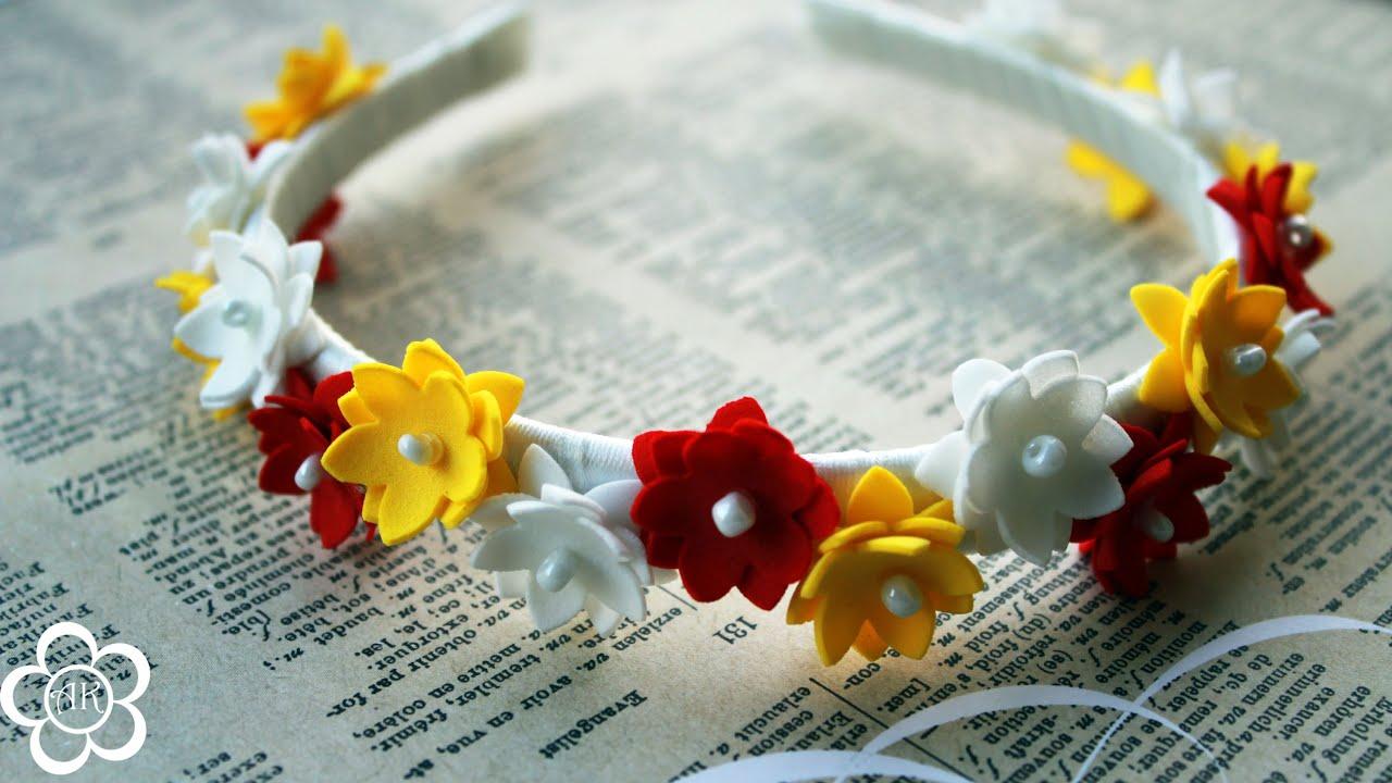 Цветы из фоамирана своими руками: мастер-класс для 61