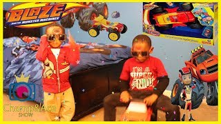 Transforming Blaze RC Monster Truck and Surprise Blaze Ride on with Magic Wand!!