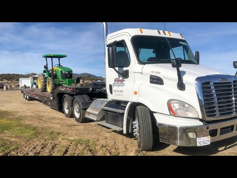 Hauling A John Deere 5100M Down A Windy Moutain Road + Driving Footage