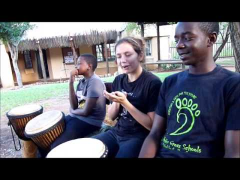 The Djembe drummers of Southern Cross Schools