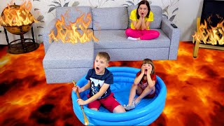 The Floor is Lava Ksenia Pretend Play with Mom | Ksysha Kids TV For kids