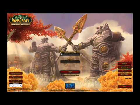 W.O.W. MOP Login Screen (Official)