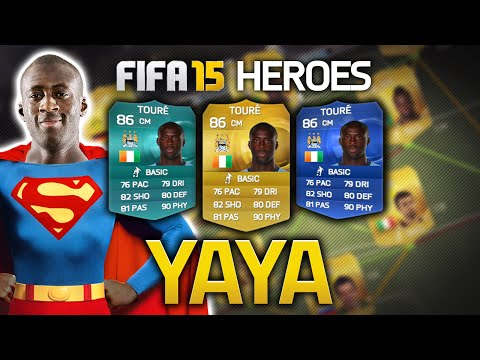 FIFA 15 - YAYA TOURE! HERO #4 FIFA 15 ULTIMATE TEAM HEROES & VILLAINS!