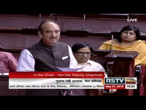 Sh. Ghulam Nabi Azad's comments on The Appropriation (No.2) Bill, 2015 and The Finance Bill, 2015