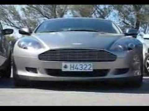 Aston Martin DB9 Volante start up