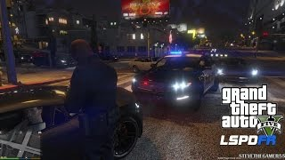 GTA 5 - LSPDFR - EPiSODE 5 - LET'S BE COPS - CITY PATROL (GTA 5 PC POLICE MODS) WRONG CAR