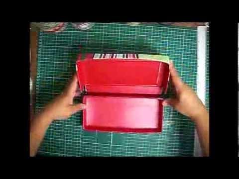 Como hacer un lapicero o estuche de cart n youtube - Como hacer un lapicero de madera ...