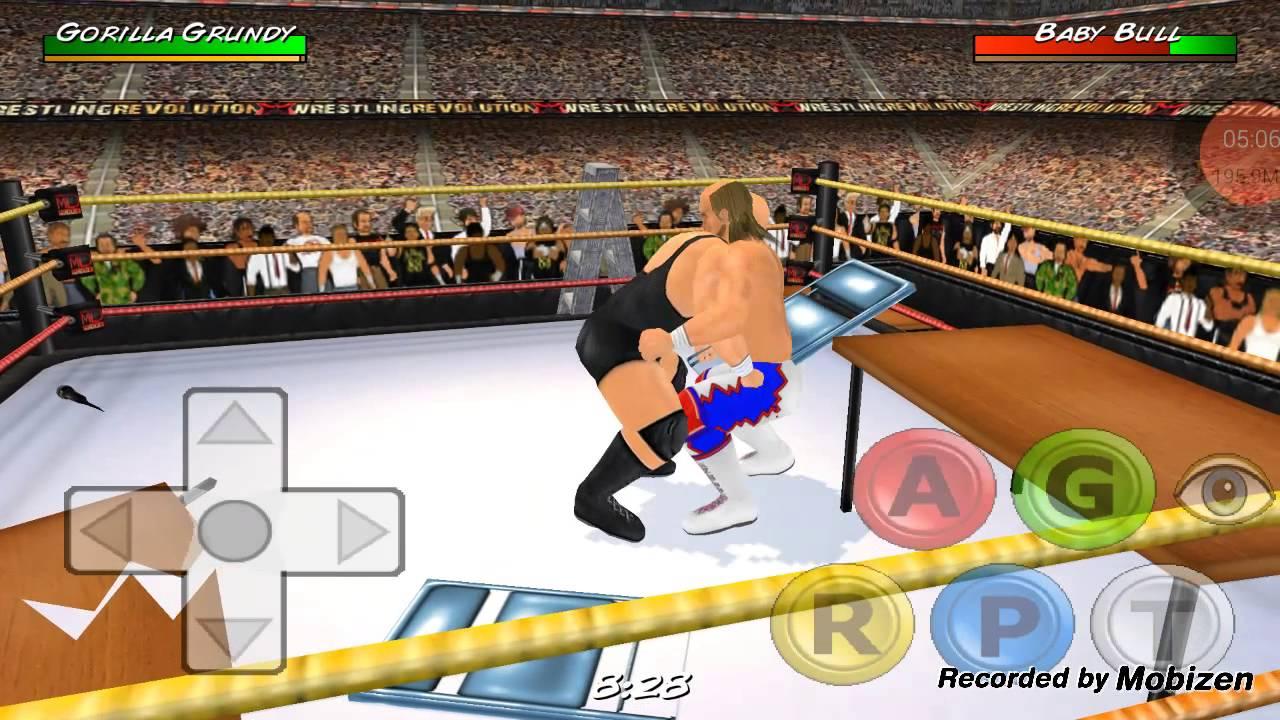 Wrestling revolution 3d mobile 2 first match youtube