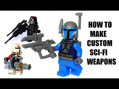 5 COOL LEGO Star Wars/Modern weapons tutorial - LEGO MOC!