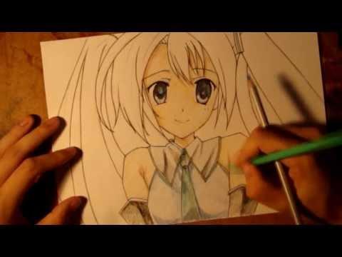 Видео как нарисовать Мику
