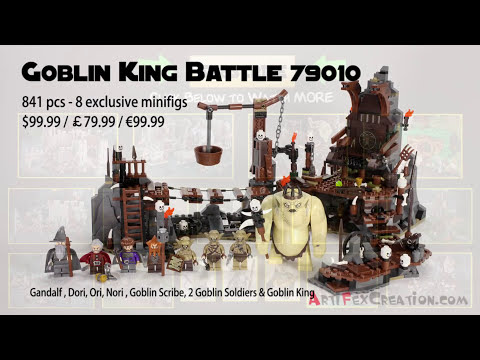 GOBLIN KING Battle - Lego the Hobbit Set 79010 Animated Building Review An Unexpected Journey