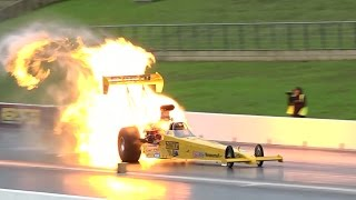 TOP FUEL FIRE BALL AT SYDNEY DRAGWAY 26.4.2015