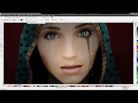 Virtual Madonna by Rogelio Hernandez (CorelDRAW Contest - Speed Drawing Video)
