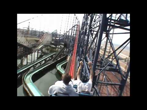 Pepsi Max Big One Roller Coaster Back Seat POV Blackpool Pleasure Beach UK England