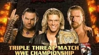 Triple H vs Jeff Hardy vs Edge Armageddon 2008 Highlights/Resumen