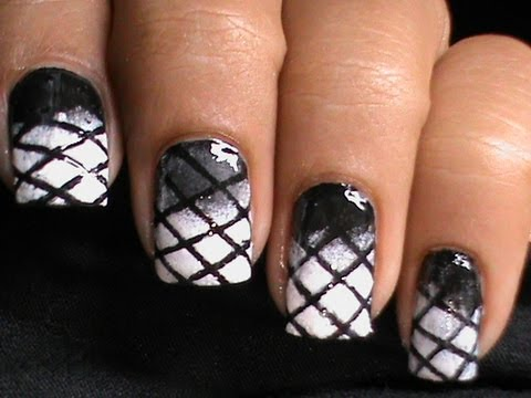 Black And White Gradient Nails Gradient Nails Black n White