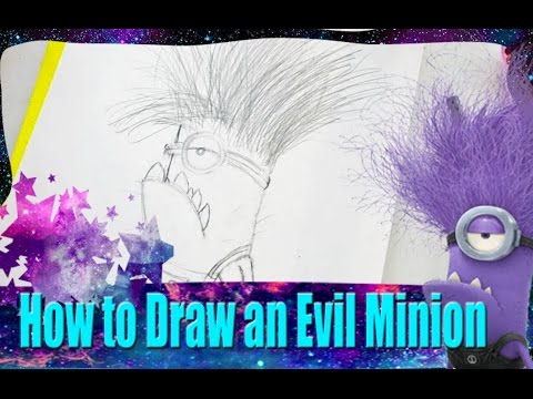 Evil Minions Drawing How to Draw an Evil Minion