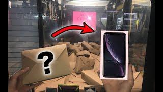 WON iPhone XR from MYSTERY BOX Claw Machine!   JOYSTICK