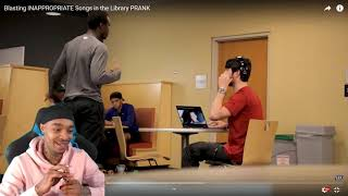 FlightReacts Blasting INAPPROPRIATE Songs in the Library PRANK!