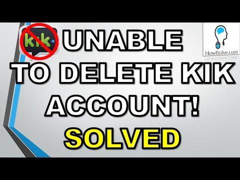 How To Delete A Kik Account - 2015