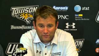 Towson Football's Rob Ambrose and student athletes share thoughts following NCCU win
