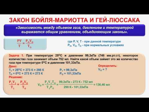 Основные законы химии. Часть 17. Закон Бойля-Мариотта и Гей-Люссака. Зад