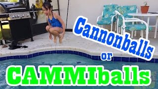 Kid Playing In Pool Cannonballs Cammiballs Big Splash