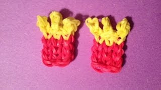 How to Make a French Fry Charm on the Rainbow Loom - Original Design