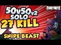 Download 1 vs 27 KILL GAME   50v50 v2 SOLO   Fortnite in Mp3, Mp4 and 3GP